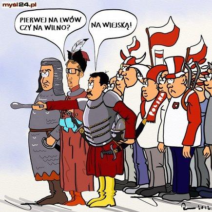 Ruch Narodowy - dokąd maszeruje z retoryką 'Wodzu prowadź na Lwów i Wilno'?